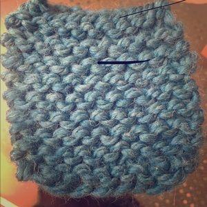Hand knit coaster